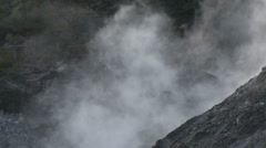 Steam From Geothermal Vents In Volcanic Region - stock footage