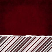 square red and white candy cane stripe torn grunge textured background - stock illustration