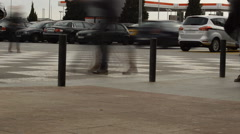 Machines And People On The Move Stock Footage