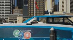 G20 logo on Brisbane city cat 4K - stock footage