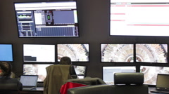 Cern In Geneva Control Stock Footage