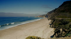 Deserted Beach California Stock Footage