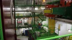 Cern In Geneva LHC Stock Footage