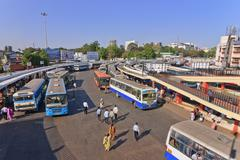 Bangalore main bus station Stock Photos