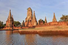 Ayutthaya historical park in Thailand - stock photo