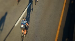 Vancouver to Whistler bicycle road bike race Stock Footage