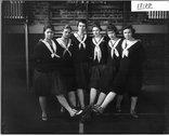 Western College basketball juniors 1919 Stock Photos