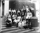Pierian Literary Society group portrait 1913 Stock Photos