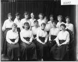 YWCA group portrait at Western College 1917 Stock Photos