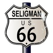 Seligman route 66 sign Piirros