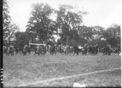 Students on field at Miami-Wittenberg football game 1921 Stock Photos