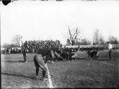Action at Miami-Denison football game 1912 Stock Photos