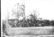 Spectators at Miami-Wittenberg football game 1910 Stock Photos