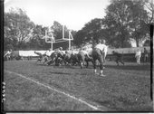 Goal line action at Miami-Wittenberg football game 1912 Stock Photos