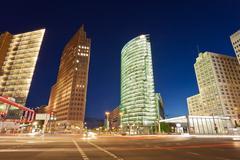 Potsdamer platz intersection, berlin, germany - stock photo