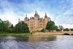 schwerin castle, germany - stock photo