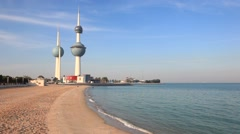 The Kuwait Towers - stock footage