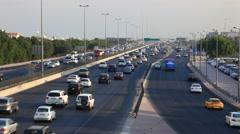 Traffic in Kuwait City - stock footage