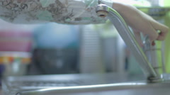 Wash the dishes Stock Footage
