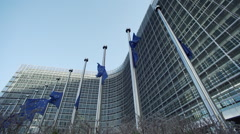 European Commission in Brussels - stock footage