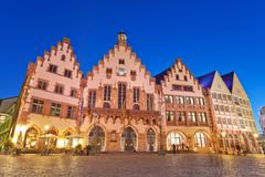 roemer the old town of frankfurt, germany - stock photo