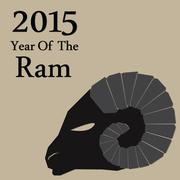Stock Illustration of chinese new year of the goat 2015