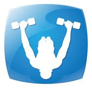 man people athletic gym gymnasium body building exercise - stock illustration