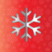 snowflake icon clipart - stock illustration