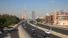 Traffic in Kuwait City Stock Footage