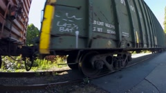 Freight train in West Vancouver BC Canada - stock footage