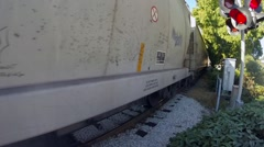 Freight train in West Vancouver BC Canada Stock Footage