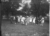 Outdoor theatrical performance at Oxford College May Day celebration 1915 Stock Photos