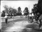 High jumping event at high school track meet 1912 Stock Photos