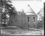 West side of Kumler Chapel construction 1917 Stock Photos