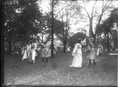 Dancers at Oxford College May Day celebration 1916 Stock Photos