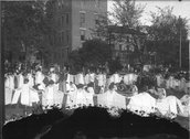 Dance performance at Oxford College May Day celebration 1923 Stock Photos