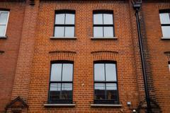 The exterior of a tipical london property. Stock Photos