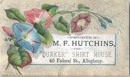 M. F. Hutchins with Quaker Shirt House Stock Photos