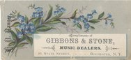 Gibbons & Stone Music Dealers and Publishers (estab. 1861) Stock Photos