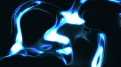 4K Dark Blue Glowing Liquid Energy Background Loop Close 2 Stock Footage