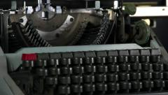 Typewriter keyboard pan 2 Stock Footage