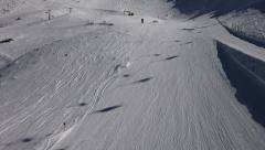Elegant skier, beautiful slope topshot Stock Footage