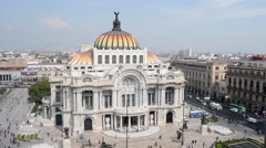 Timelapse at Bellas Artes Mexico City Stock Footage