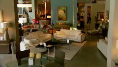 Furniture Store Livining Room Stock Footage
