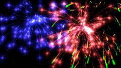 nice colored fireworks - stock footage