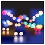 night street - stock illustration