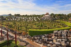 botanical garden at pattaya, thailand - stock photo