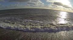 Aerial shot of sandgate folkestone Stock Footage