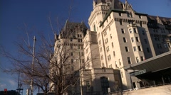 Ottawa's Famous Chateau Laurier Hotel Stock Footage