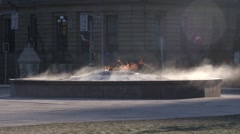 Ottawa Canada's Eternal Flame Burning on Cold Morning Stock Footage